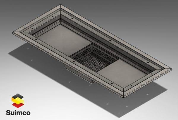 canal cocina suelo vinilico AISI304